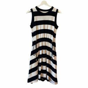 KATE SPADE ♠️ BLACK AND WHITE STRIPED DRESS